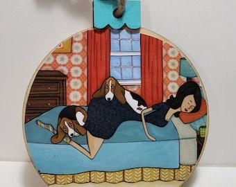 Bassets Bed ornament