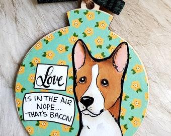 Basenji, handpainted dog ornament