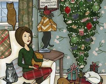 Oh Christmas Tree Cat