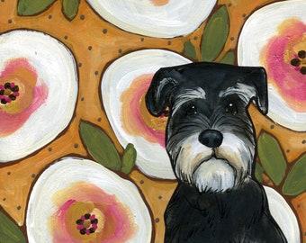 Black Schnauzer, dog art print