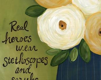 Real Heroes, flower at print