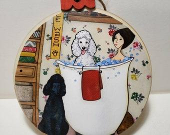Poodle Bath ornament