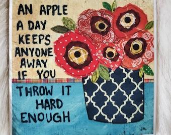 Apple A Day coaster