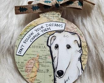 Borzoi dog ornament