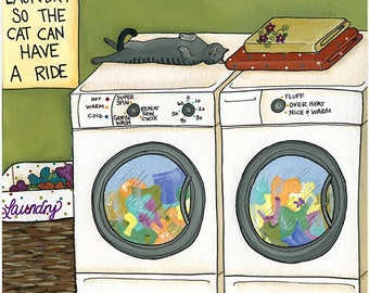 Please Insert Laundry, Cat Art