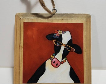 Cow Ornament red