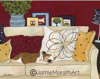 Sweet Dreams, dog art print
