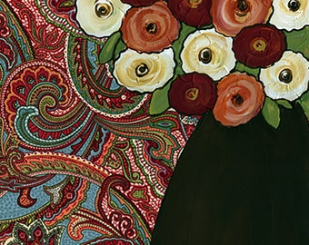 Chocolate Vase, flower art print