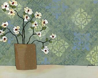 Brown Vase, wall art print