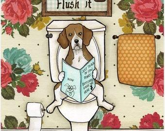 Flush It, art print