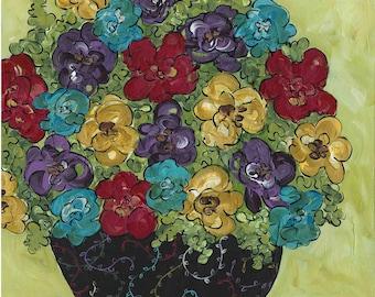 Punch Of Color, flower art print