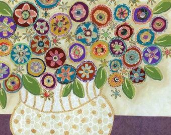 Perfect Blooming Circles, flower art print