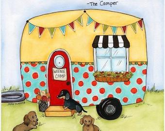 The Camper, art print