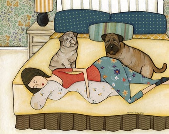 Sharpei Bed DISCOUNTED PRINTS