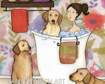 Dingleberry Wash, art print