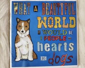 Hearts Like Dogs coaster