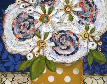 Always Remember, flower wall art print