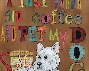Pet My Dog, dog art print