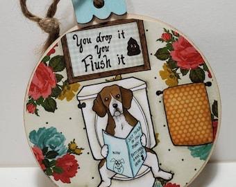 Flush It ornament