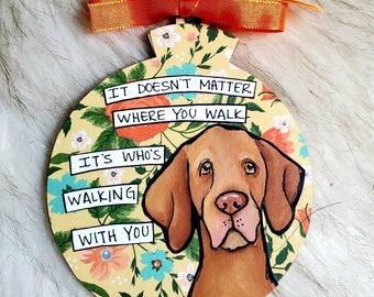 Vizsla, handpainted dog ornament