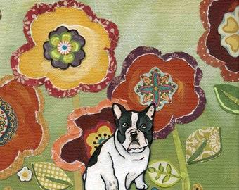 French Bull Dog, portrait art print