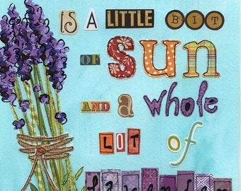 All I Need, lavender wall art print