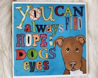 Find Hope coaster, pitbull dog
