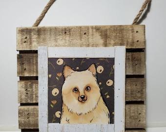 Pomeranian, original painting