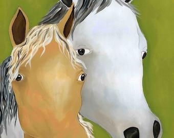Tally Ho, horse art print