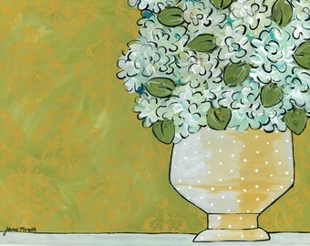 Hydrangeas, flower art print