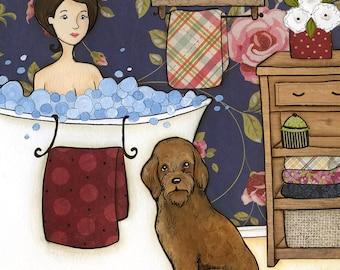 Dogs Don't Judge, art print