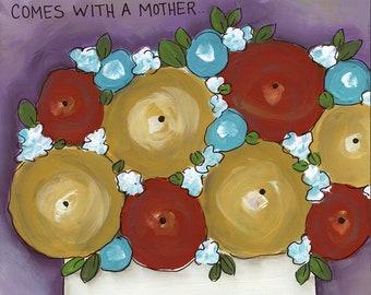 Mom Manuel, flower art print