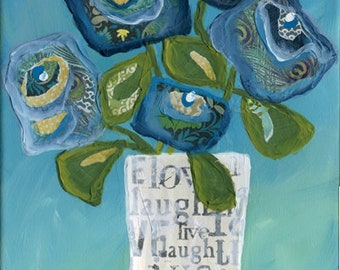 Live Love Laugh in a Vase, wall decor