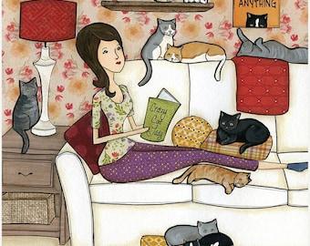 Crazy Cat Lady, wall art