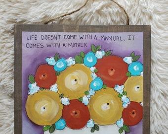 Mom original painting on wood