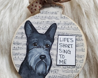 Scotty dog ornament