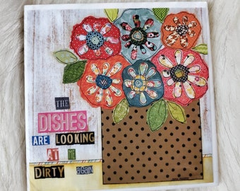 The Dishes coaster