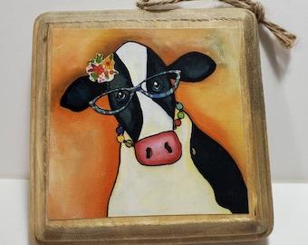 Cow Ornament orange