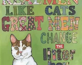 Great Men, cat art prints