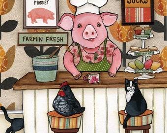 Bacon Sucks Pig Art