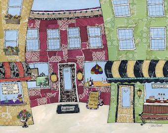Little Town, city art print