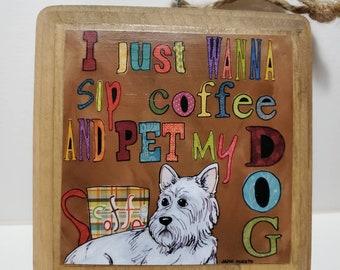 Pet My Dog ornament