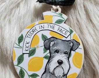 Schnauzer Lemon dog ornament