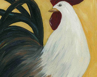 Mr Fester, chicken art print