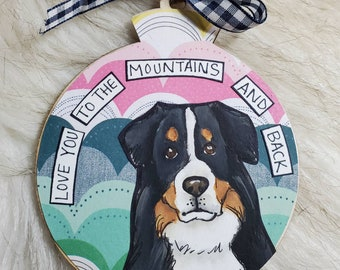 Bernese Mountain dog handpainted dog ornament