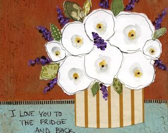 Fridge and Back, art print