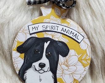 Birder Collie ornament