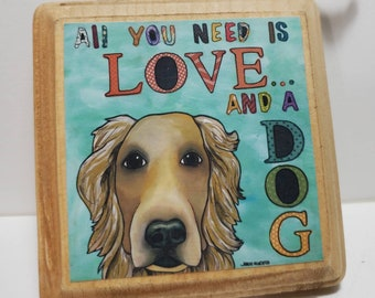 Love and a Dog ornament