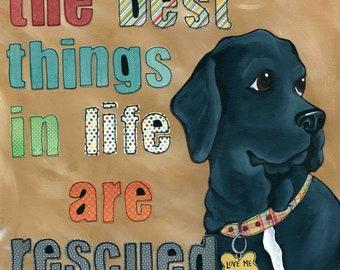 Love Me, Dog Art print