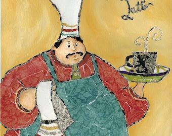 Cafe Chef, kitchen art print